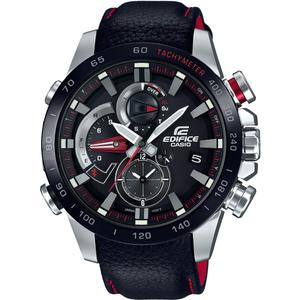Casio Edifice Bluetooth Race Lap Chronograph Tough Solar Leather Strap Watch EQB-800BL-1AER