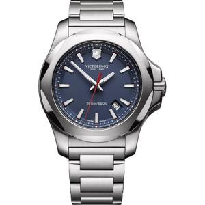 Victorinox Swiss Army I.N.O.X. Blue Dial Silver Bracelet Watch 241724.1