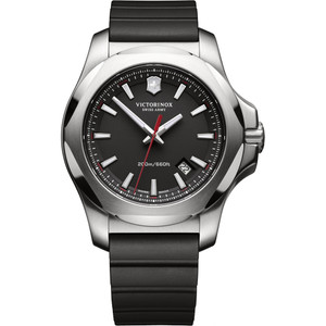 Victorinox Swiss Army I.N.O.X. Black Dial Watch with Black Rubber Strap 241682.1