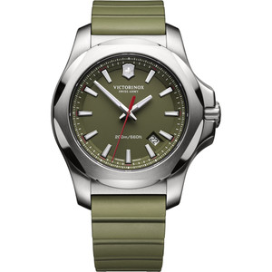 Victorinox Swiss Army I.N.O.X. Green Dial Watch with Green Rubber Strap 241683.1