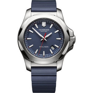 Victorinox Swiss Army I.N.O.X. Blue Dial Watch with Blue Rubber Strap 241688.1