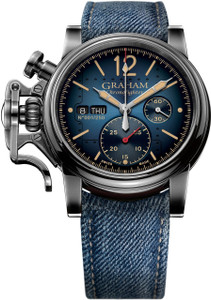 Graham Men's ChronoFighter Aircraft Limited Edition Blue Strap Watch 2CVAV.U03A