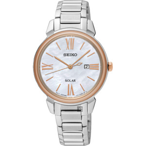 Seiko Ladies Solar Watch with Mother of Pearl Dial SUT326P1