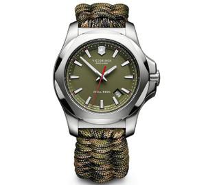Victorinox Swiss Army I.N.O.X. Naimakka Green Dial Green Camo Paracord Bracelet Watch 241727.1