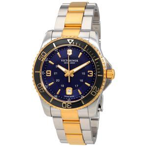 Victorinox Swiss Army Maverick Blue Dial Two-Tone Bracelet Watch 241789