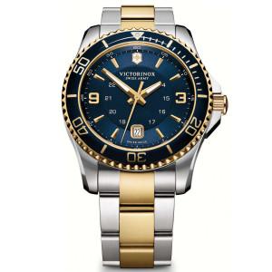 Victorinox Swiss Army Maverick Sapphire Date Blue Dial Two-Tone Bracelet Watch 241789