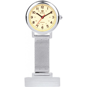 Royal London Unisex Luminous Stainless Steel Nurses Fob Watch 20067-01
