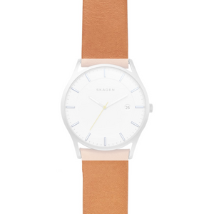 Skagen Replacement 22mm Leather Strap For SKW6282 With Free Screws