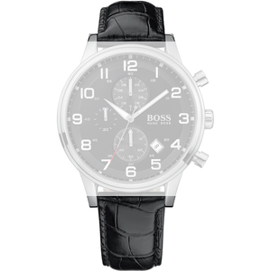 Hugo Boss Replacement Watch Strap Black Genuine Leather 22mm For HB.88.1.14.2194.1 With Free Connecting Pins