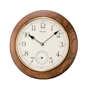 Seiko Oak Wooden Brown Wall Clock QXA432B