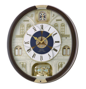 Seiko Marionette Brown Melody Wall Clock QXM371B