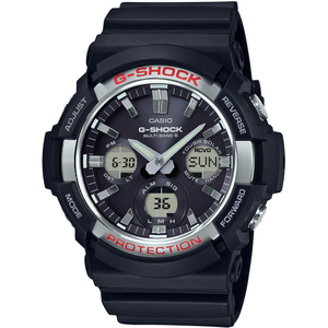 G-Shock Radio Controlled Solar Powered Silver Bezel Watch GAW-100-1AER
