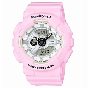 Baby-G Pink Digital Analogue Dial Chronograph Watch BA-110BE-4AER