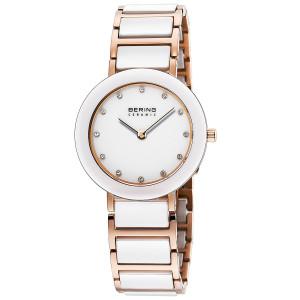 Bering Ceramic Ladies White Dial Stainless-Steel Bracelet Watch 11429-766
