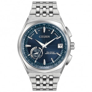 Citizen Eco-Drive Mens Blue Dial Satellite Wave-World Time GPS Watch CC3020-57L