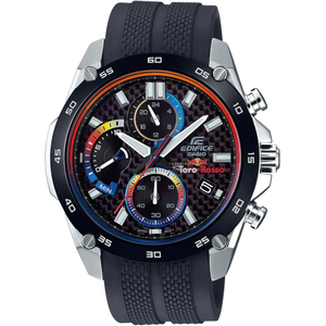 Edifice Men's Limited Edition Toro Rosso Carbon Fibre Dial Chronograph Watch EFR-557TRP-1AER