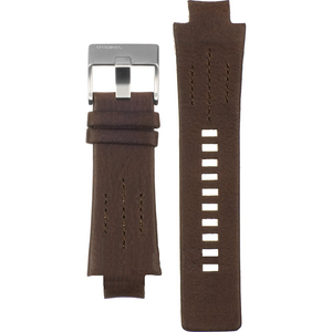 Diesel Replacement Watch Strap Brown Genuine Leather For DZ4128 With Free Connecting Pins
