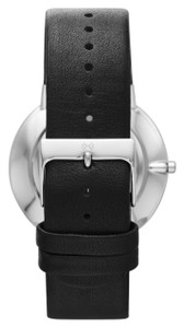 Skagen Watch Replacement Strap 23mm For SKW6104 Black Leather With Free Screws