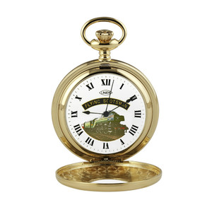 Woodford Special Edition Flying Scotsman Mechanical Gold Plated Pocket Watch HT102