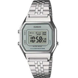 Casio Unisex Grey Dial Classic Alarm Digital Watch LA680WEA-7EF