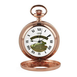 Woodford Flying Scotsman Half Hunter Rose Gold Plated Pocket Watch  HT104