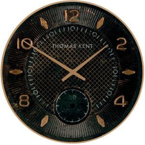 """Thomas Kent Shilling Jet Black 10"""" Copper Wall Clock CKK9003"""
