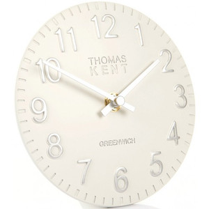 "Thomas Kent Cotswold Snowberry 6"" White Mantel Clock CK6039"