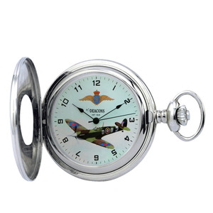 Woodford Spitfire Mark 5 Mechanical Chrome Pocket Watch HT101