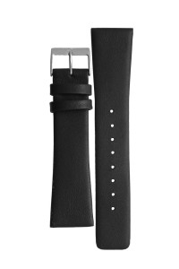 Skagen Replacement Watch Strap Black Leather 22mm For 858XLSLB With Free Connecting Pins