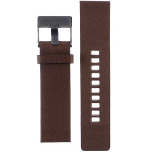 Genuine Brown Leather Replacement Strap For Diesel Watch DZ4302