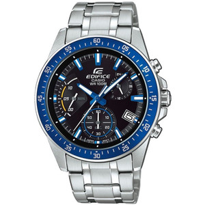 Edifice Casio Men's Black Dial Chronograph Watch EFV-540D-1A2VUEF