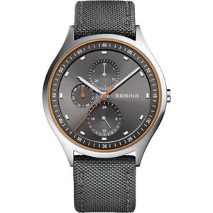 Bering Men's Ultra Light Grey Dial Nylon Strap Titanium Watch 11741-879