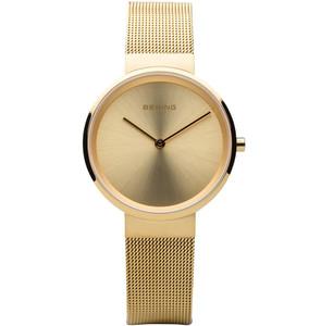 Bering Classic Ladies Gold Dial Milanese Bracelet Watch 14531-333