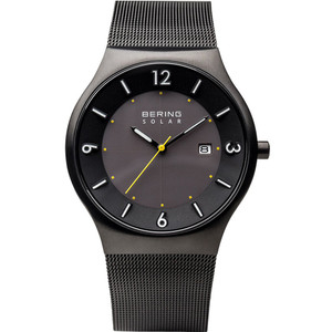 Bering Men's Solar Black Dial Stainless-Steel Strap Watch 14440-223