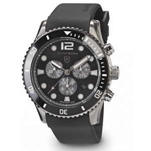 Elliot Brown Bloxworth Mens Black Resin Strap Watch 929-010-R09