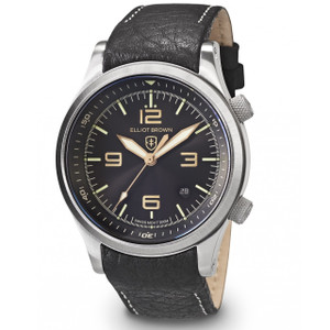 Elliot Brown Canford Mens Black Leather Watch 202-021-L17