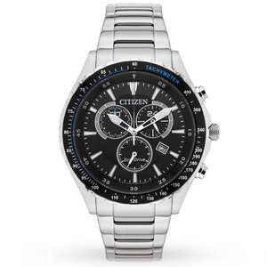 Citizen Eco-Drive Men's Stainless-Steel Sport Chronograph Watch AT2381-59E