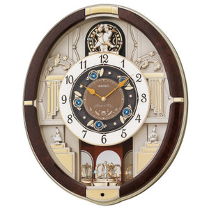 Seiko Magic Motion Melody Marionette Clock QXM289B