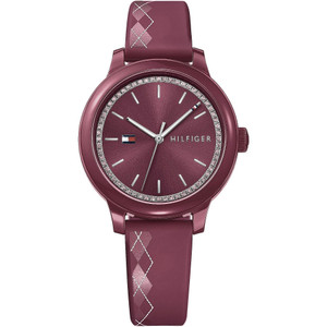 Tommy Hilfiger Ladies Ashley Berry Dial Silicone Strap Watch 1781813