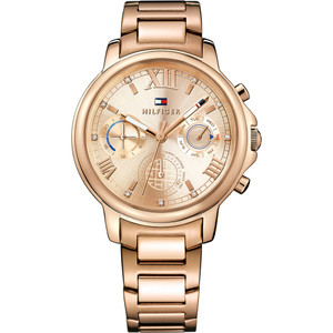 Tommy Hilfiger Ladies Claudia Rose Gold Plated Stainless-Steel Bracelet Watch 1781743