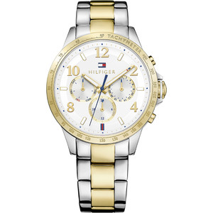 Tommy Hilfiger Ladies Dani White Dial Two Tone Bracelet Watch 1781644