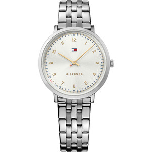 Tommy Hilfiger Ladies Ultra Slim White Dial Stainless-Steel Bracelet Watch 1781762