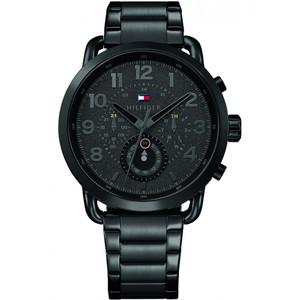 Tommy Hilfiger Men's Briggs Black Dial Stainless-Steel Bracelet Watch 1791423