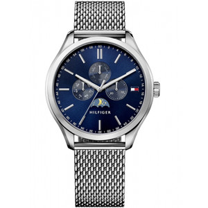 Tommy Hilfiger Men's Oliver Navy Dial Stainless-Steel Milanese Bracelet Watch 1791302