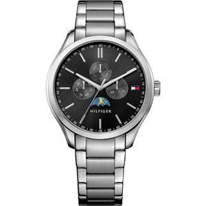 Tommy Hilfiger Men's Oliver Black Dial Stainless-Steel Bracelet Watch 1791303