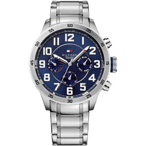 Tommy Hilfiger Men's Trent Navy Dial Stainless-Steel Bracelet Watch 1791053