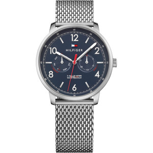 Tommy Hilfiger Men's Will Blue Dial Stainless-Steel Bracelet Watch 1791354