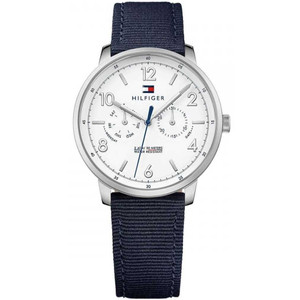 Tommy Hilfiger Men's Will White Dial Nylon Strap Watch 1791358