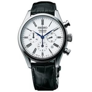 Seiko Presage Enamel Automatic Multi-Dial Chronograph Watch SRQ023J1
