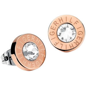 Tommy Hilfiger Fine Core Swarovski Crystal Rose Gold Plated Stud Earrings 2700752
